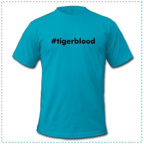 charlie sheen tiger blood funny t-shirt #tigerblood